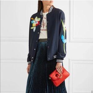 Mira Mikati Embellished Crepe Bomber Jacket